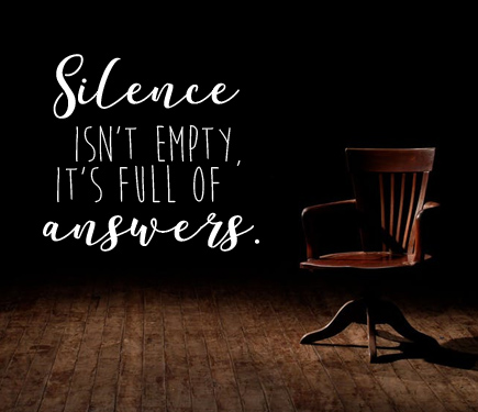 Silence:  How to find truth